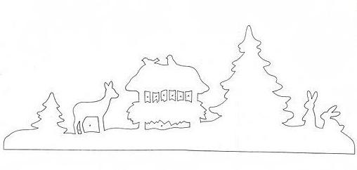 Зимнее украшение для окна, вдохновленное идеей из Икеа.