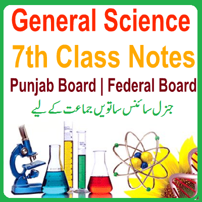 7th General Science Notes Federal / Punjab Board - Easy MCQs