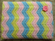 Candy Ripple Baby Blanket