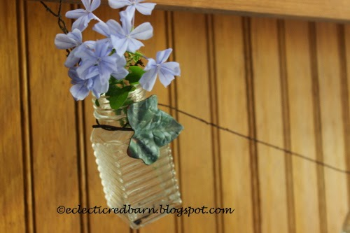 Eclectic Red Barn: Bottle garland with Plumbago