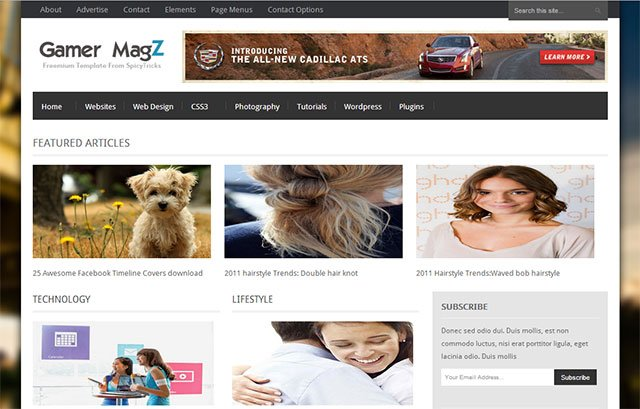 Gamer MagZ Blogger Template