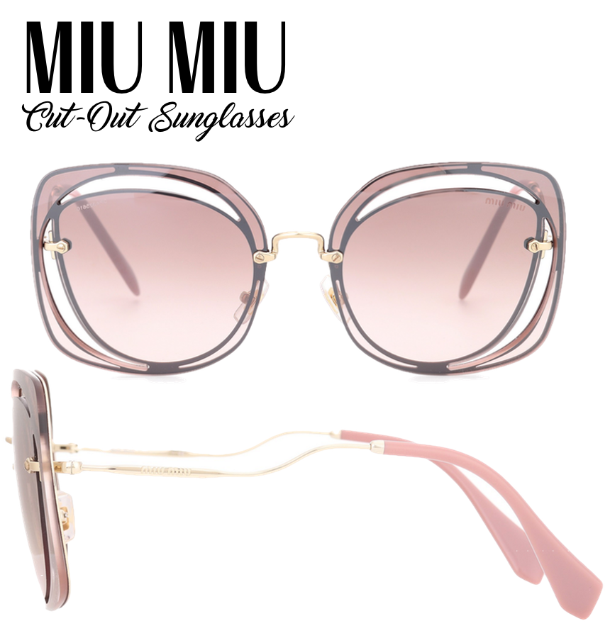 Miu Miu Cut-Out Sunglasses