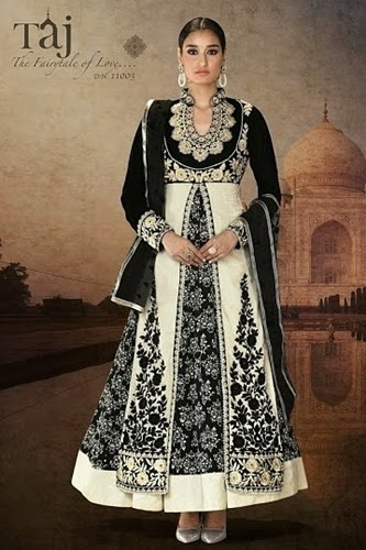 Embroidered Velvet Anarkali Frocks