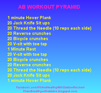 ab workout pyramid  fit and healthy with debbie