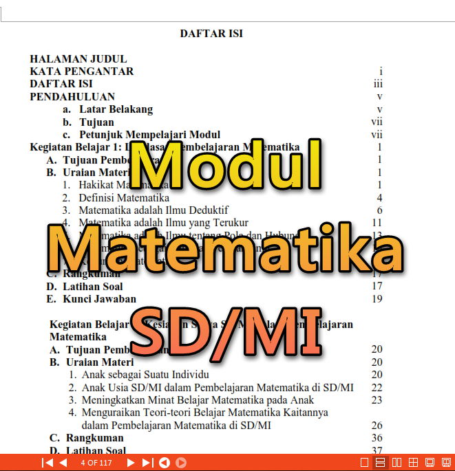 Modul Pembelajaran Matematika Sd Mi 18 Foldersoal