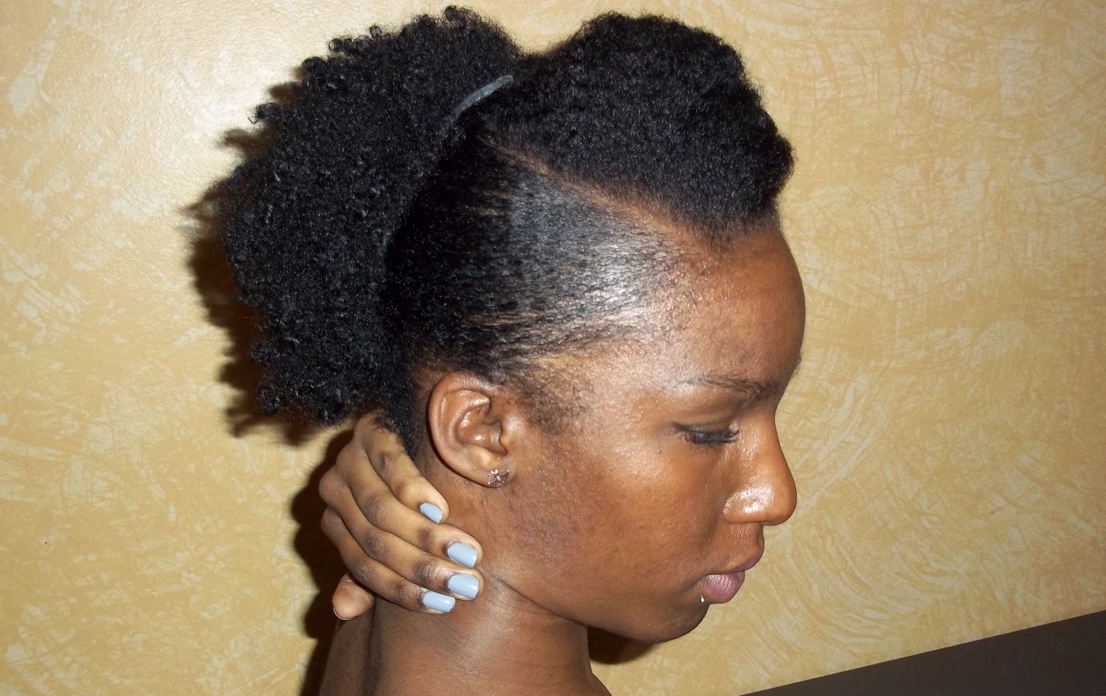 style my natural hair your africa is showing twa style banana clip up do 5984 | 100 2213