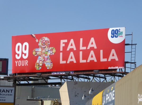 99c Gingerbread Fa La La billboard