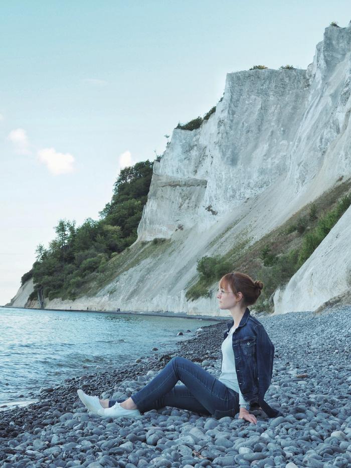 Randonnée aux falaises de l'île de Møn au Danemark