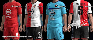 Kits Feyenoord Rotterdam 2016-2017 Pes 2013 By syirojuddin15
