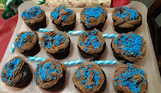 PB Chocolate filled cupcakes