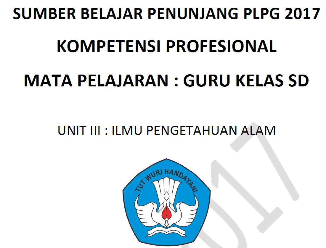 Download Modul Materi PLPG 2017 Kompetensi Profesional Guru Kelas