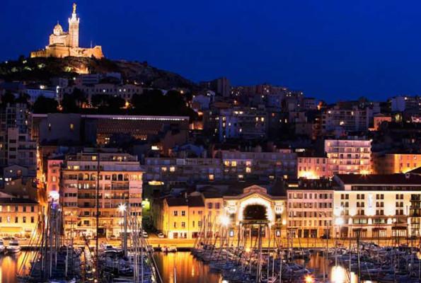 Vista da cidade de Marselha