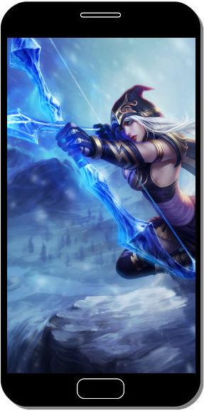Ashe League of Legends - Fond d'Écran en QHD pour Mobile