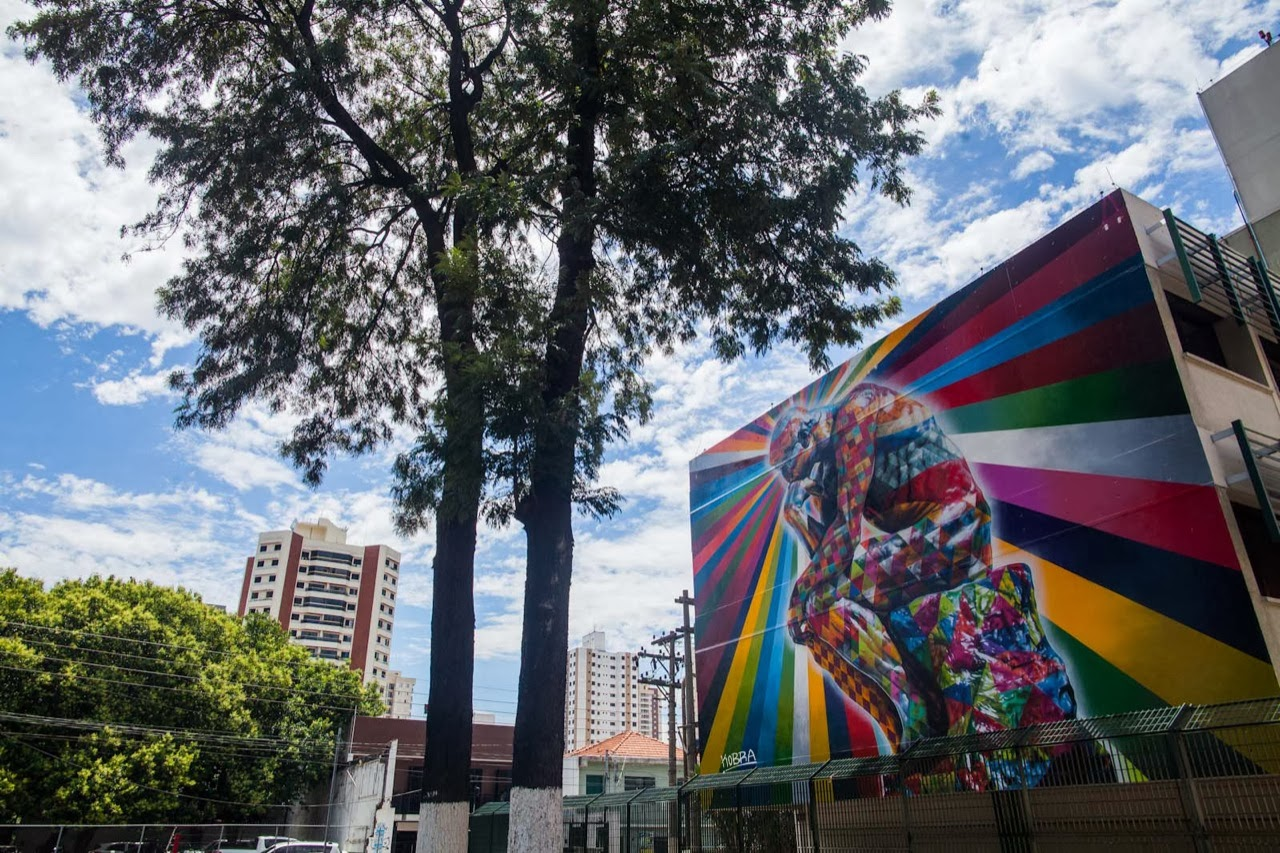 """The Thinker"" a new Street Art piece by Eduardo Kobra on the streets of Sao Paulo, Brazil. 2"