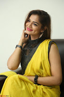 Cute Actress Ashwini in Yellow Saree Exclusive  038.JPG