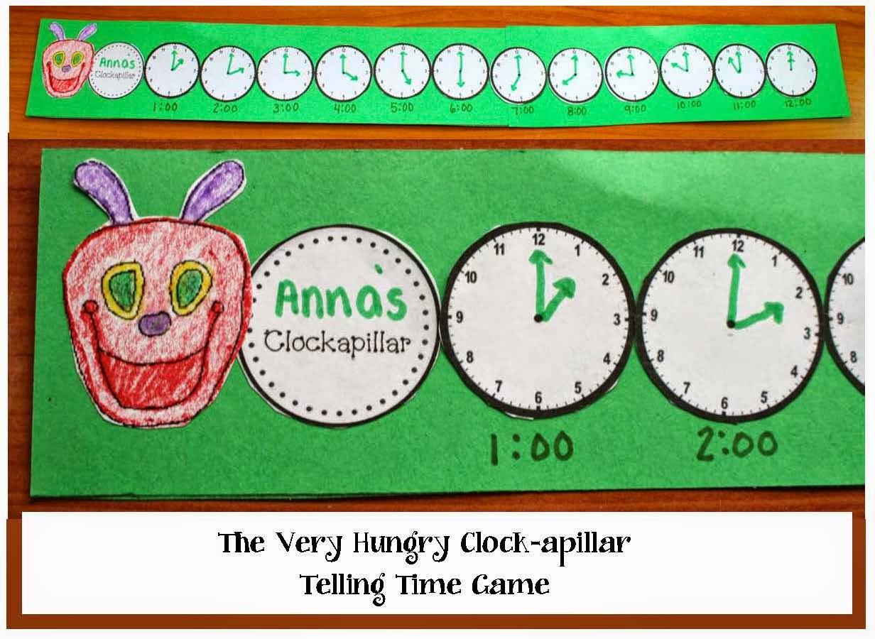Classroom Freebies The Very Hungry Clock Apillar Telling