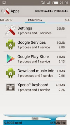 Running Apps Xperia Z4 Xtreme