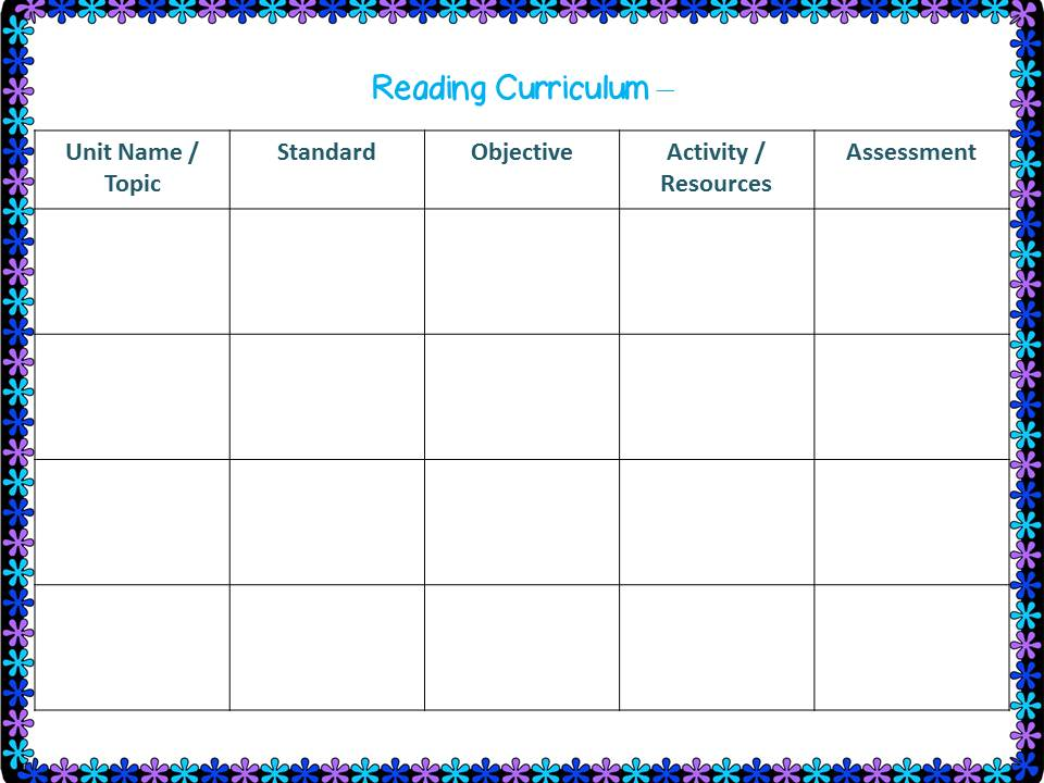 Curriculum Map Templates...