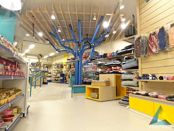 projeto arquitetura interior decoração loja pet shop Ar Mar