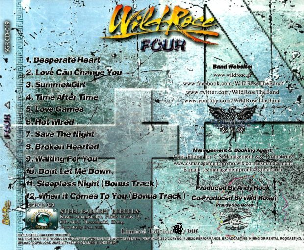 WILD ROSE - Four [Hellenic Limited Edition +2] (2016) back