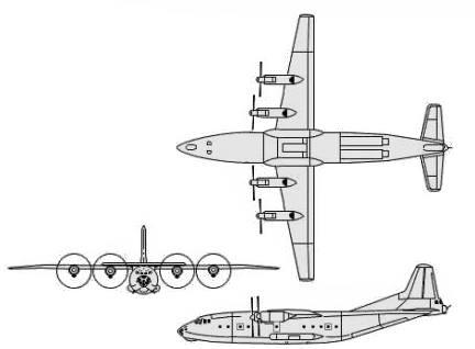 Antonov An-12 Aeronave de transporte médio (Antonov - Aviant) descrição
