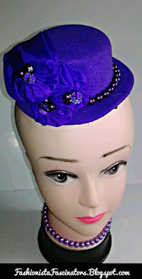 Purple fascinators in Kenya