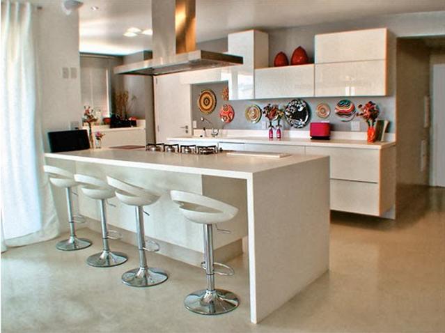 Construindo minha casa clean tend ncia de cozinhas com for Banquetas altas modernas