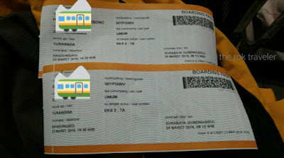 Boarding Pass Ala PT Kereta Api Indonesia