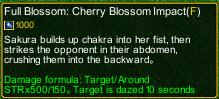 naruto castle defense 6.0 Full Blossom: Cherry Blossom Impact detail
