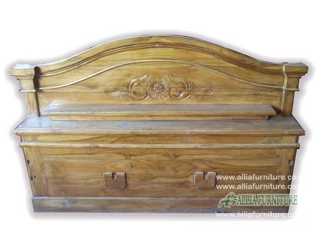 tempat tidur kayu jati klender paris