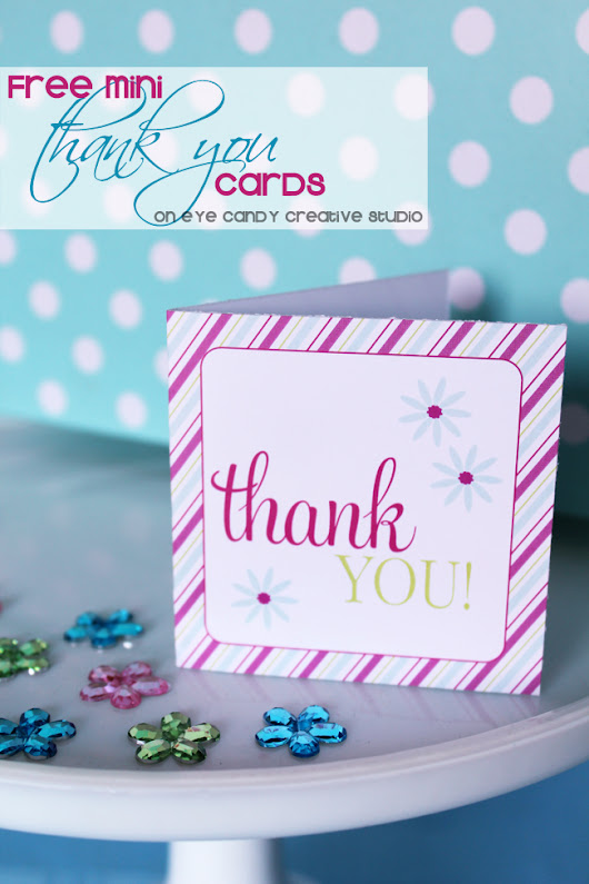 {FREEBIE ALERT} Thank you cards FREE Download