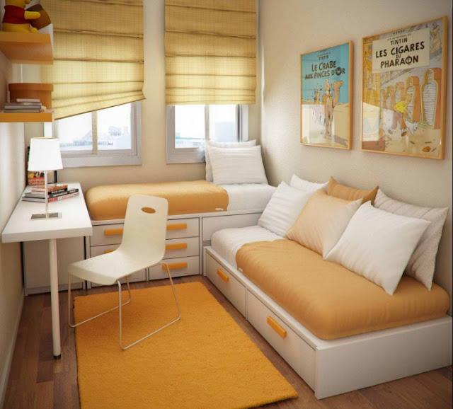 interior kamar tidur minimalis ukuran 3x3