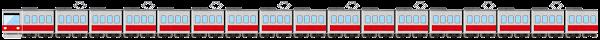 電車のライン素材(赤)