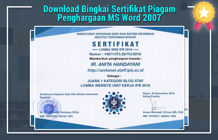Download bingkai sertifikat ms.word