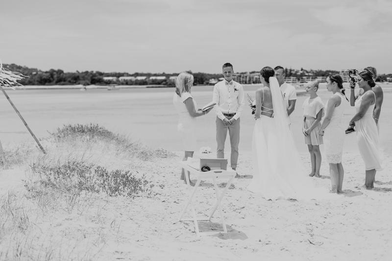 noosa sand island wedding
