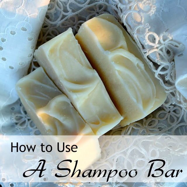 How to use a shampoo bar - (c) Oak Hill Homestead 2017