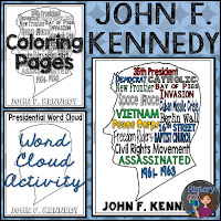 https://www.teacherspayteachers.com/Product/John-F-Kennedy-JFK-Coloring-Page-and-Word-Cloud-Activity-2350054