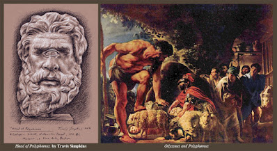 Ancient Greek Head of Polyphemus. Cyclops. by Travis Simpkins. Museum of Fine Arts, Boston