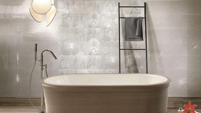 Toilet tiles design images of Porcellana series