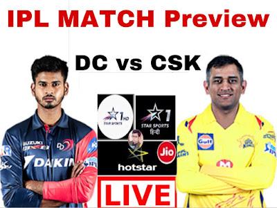 Chennai super kings vs delhi Capitols match preview 2019