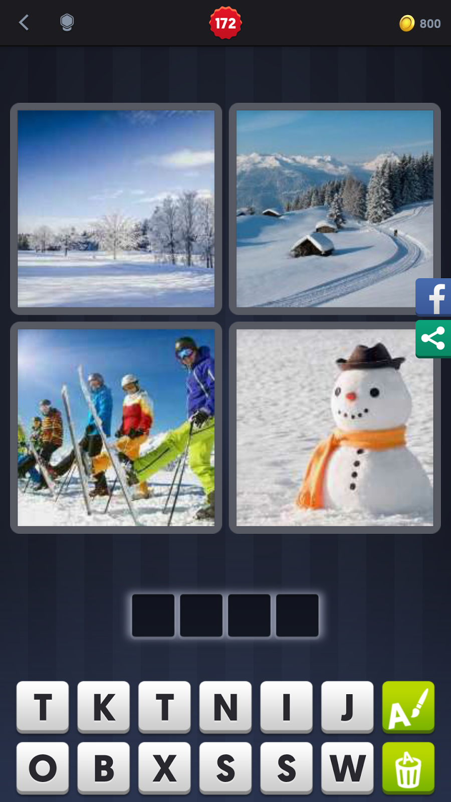 4 Pics 1 Word Answers Solutions Level 172 Snow