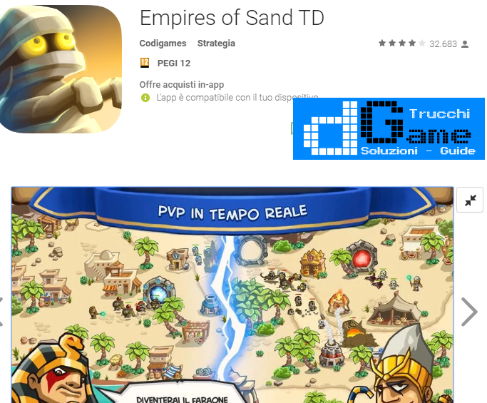 Trucchi Empires of Sand TD Mod Apk Android v3.53