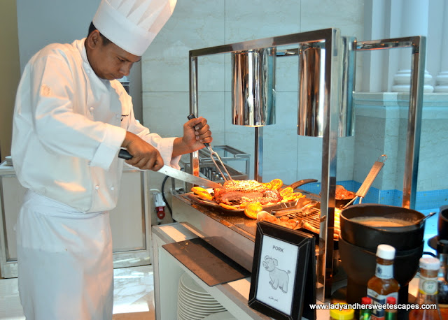 Pork Station at The Art of Brunch in Movenpick Dubai