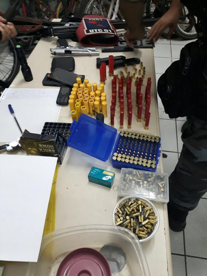 POLÍCIA: Homens são presos com grande quantidade de armas e munições em Caxias