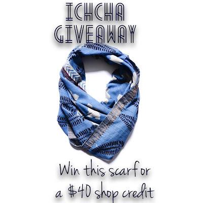 ichcha, ichcha giveaway, block print, ustari scarf, handmade scarf, fair trade scarf, contest, sweepstakes, giveaway, freebie, fashion freebie