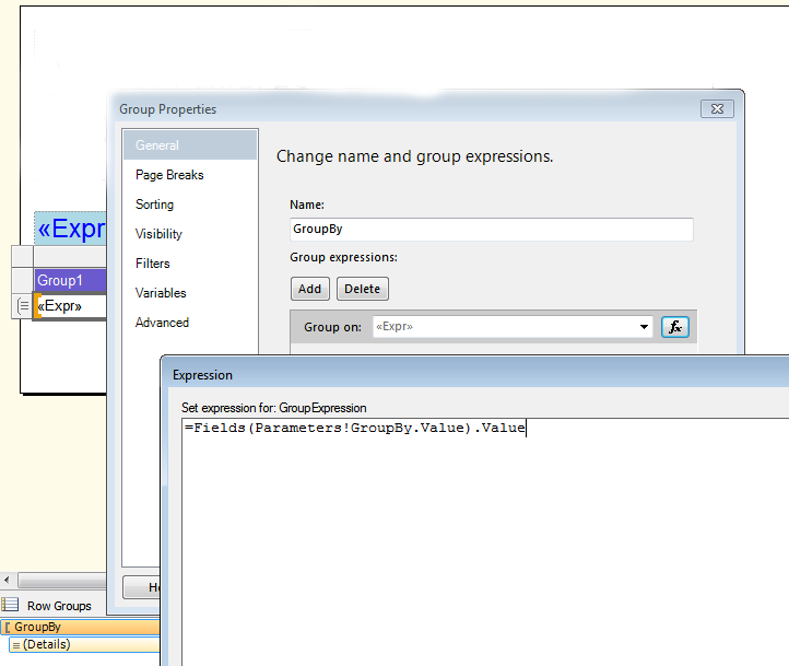 T-SQL SSRS: SSRS Report: Dynamic Group By and with None option