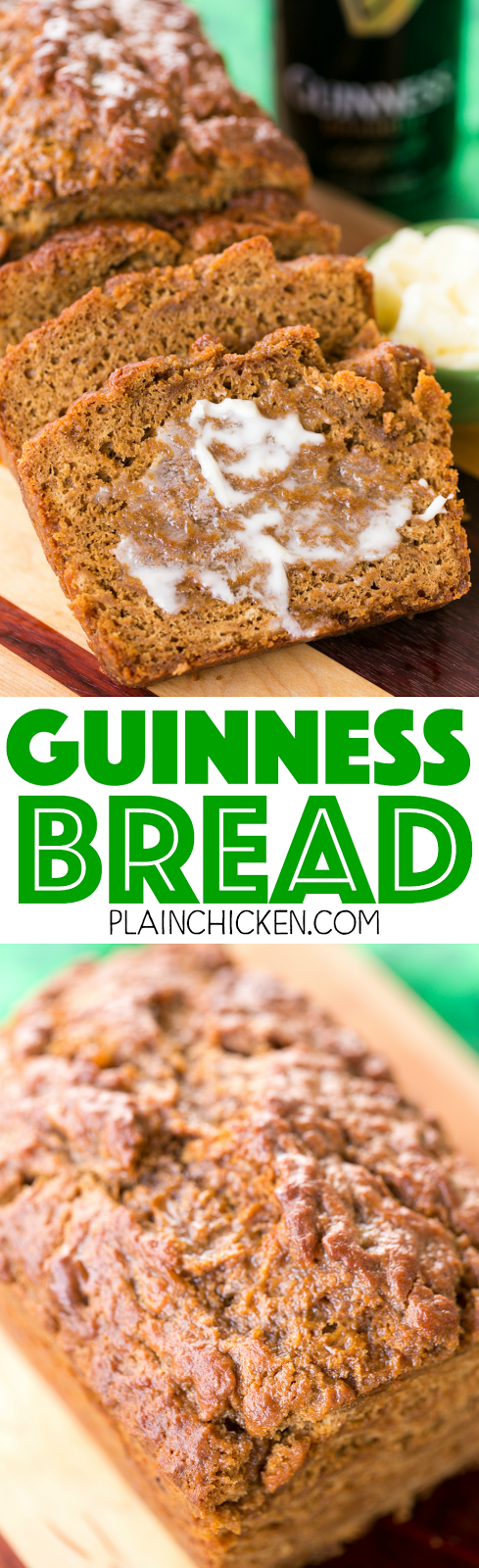 Guinness Bread - so easy and SO delicious! Ready to eat in an hour ...