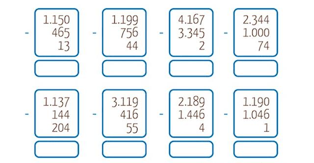 8 fichas de razonamiento matemáticos para niños de 8 y 9 años