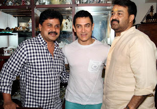 Aamir with Mohanlal and dileep