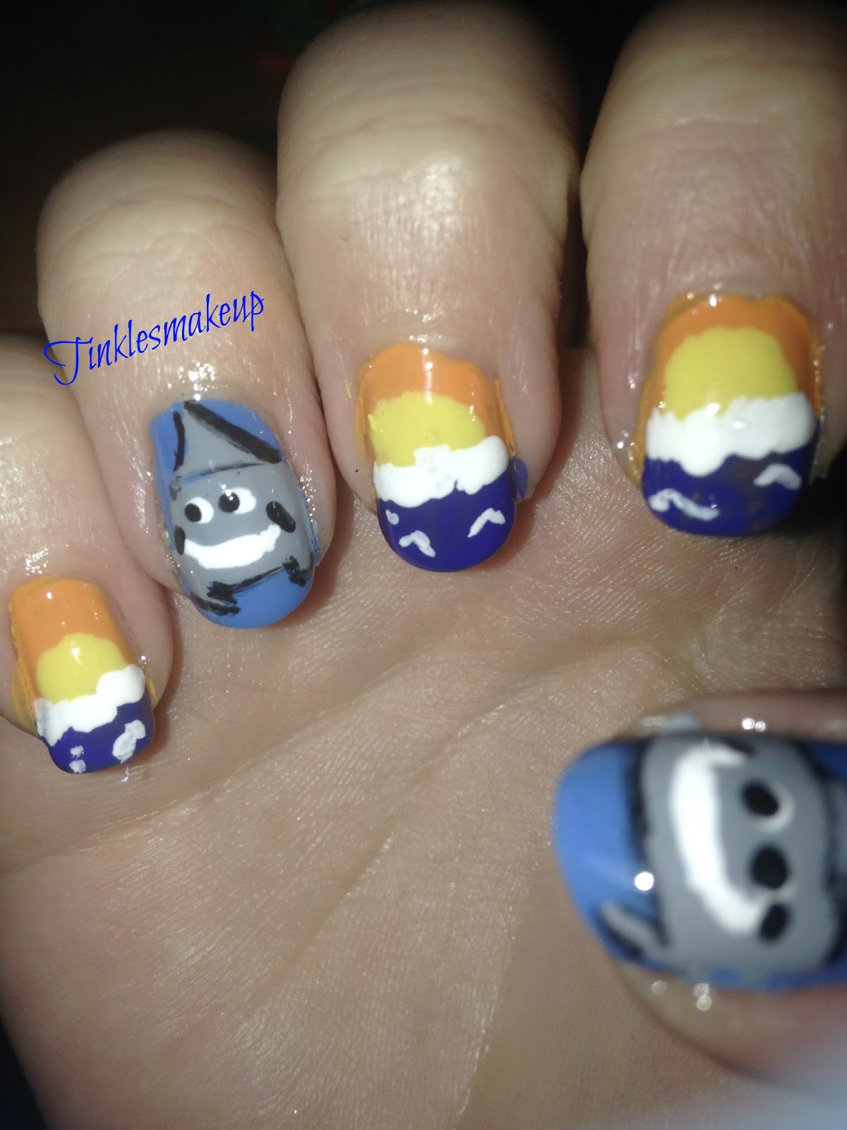 Tinklesmakeup: shark/ squalo nail art